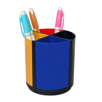 华杰H468可旋转笔筒 组合式办公笔筒 笔收纳盒