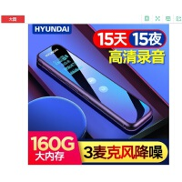 �F代(HYUNDAI) E960内录插卡长待机专业录音笔高清降噪会议语音转文字随身便携大容音量声控 标配