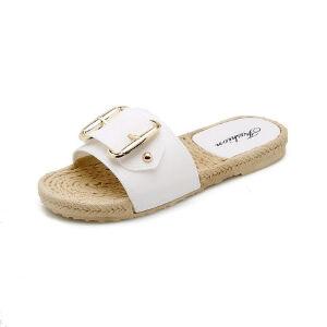 ELEISE美国艾蕾莎新品113-T6618韩版超纤皮平跟女士凉拖鞋