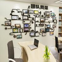 文化墙立体墙贴团队照片墙贴纸励志标语办公室装饰