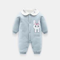新生儿宝宝秋冬装婴儿连体衣服6个月9冬天加厚1岁加棉冬季哈衣0-3