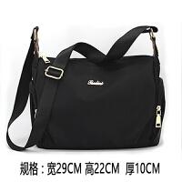 尼龙女包斜挎包 休闲包包 防水牛津布包背包帆布旅行单肩包潮 黑色 包包可以洗水