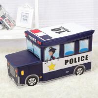 收纳箱 方形折叠儿童收纳凳收纳盒无纺布汽车储物凳子整理卡通玩具收纳箱
