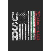 【预订】USA Mexico Flag: Blank Lined Notebook / Journal (6 X 9)