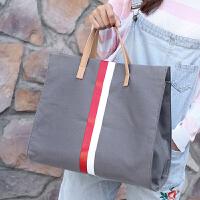 包包女2018新款韩版女包简约帆布包单肩包大包大容量手提包斜挎包