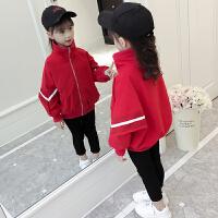 女童外套秋装2018新款洋气儿童装夹克春秋韩版女孩时尚棒球服潮衣