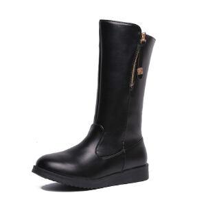 WARORWAR新品YM98-7029冬季韩版磨砂反绒平底鞋舒适女士靴子切尔西靴中筒靴