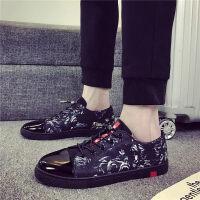 夏季男鞋子黑色一脚蹬懒人帆布鞋男士休闲鞋韩版板鞋学生