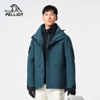 伯希和户外三合一冲锋衣男女款新款秋冬摇粒绒防水防风加厚登山外套