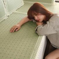 沙发垫夏季凉席凉垫欧式皮防滑坐垫夏天冰丝藤席子客厅通用布艺套