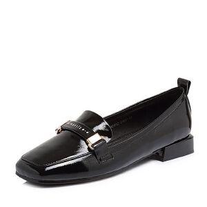 BASTO/百思图2018春季专柜同款牛皮漆皮方头浅口女单鞋CA001AQ8