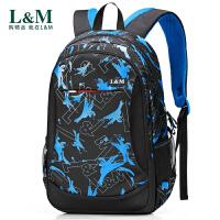 新款书包双肩包男旅行背包初中生高中生书包男时尚潮流大学生背包
