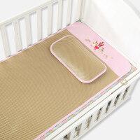 婴儿凉席儿童草席夏季婴儿床凉席幼儿园宝宝凉席凉枕套装 120*60