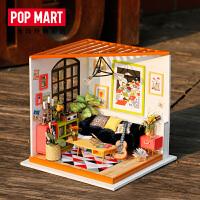 POPMART若态3D立体拼装手工DIY小屋卡斯的音乐客厅