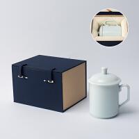 茶杯陶瓷大号中式办公室水杯带盖会议室泡茶杯简约家用马克杯