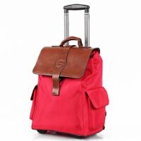 可双肩背大容量拉杆包 纯黑色旅行箱 多功能手提行李包拉杆登机箱