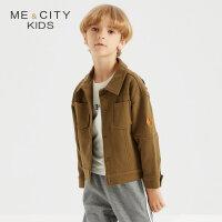 【满1000减750】米喜迪mecity童装秋新款男童茄克式针织开衫