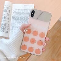 橘子补妆镜8plus苹果x手机壳XS Max/XR/iPhoneX/7p/6女iphone6s套