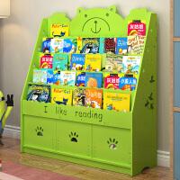 简易儿童书架宝宝家用置物架简约学生书架落地收纳书柜幼儿绘本架
