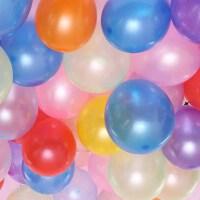 婚庆用品气球婚房装饰拱门气球 1.5克10寸加厚珠光圆形气球100个(3包)A521
