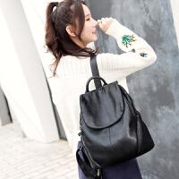 双肩包女韩版潮休闲2017新款时尚百搭软皮女士包包配真皮女包背包SN4330