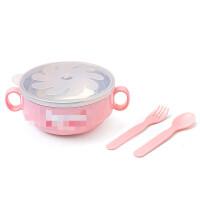 W 儿童餐具不锈钢吃饭碗叉勺套装婴幼儿辅食碗宝宝保温碗O