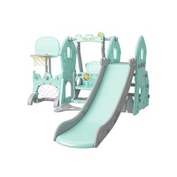滑梯儿童室内 滑滑梯秋千儿童室内家用小孩游乐场宝宝幼儿园小型婴儿玩具A 球池组合