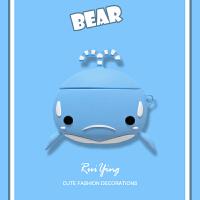 airpods保护套鲸鱼airpods2保护壳2代1苹果蓝牙无线耳机ipod充电 airpods 1代2代通用 【蓝色