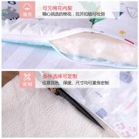 宝宝棉单人床儿童床垫可洗超薄小学生卡通卧室床褥可折叠透气1.2