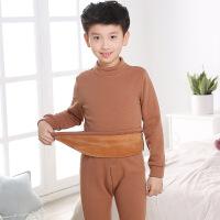 儿童保暖内衣套装冬季男童加绒加厚中大童5-7-9-11-13岁男孩高领