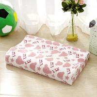 儿童慢回弹定型记忆枕天鹅绒可拆3D护颈枕学生乳胶枕芯枕头