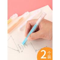 2个日本国誉笔型橡皮擦小学生专用的干净不留痕按动式进口像皮可爱儿童铅笔自动卡通小清新创意象皮文具用品