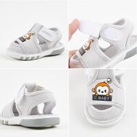 0-2岁宝宝软底鞋女童学步鞋子婴儿叫叫鞋1-3岁男宝宝夏季布凉鞋