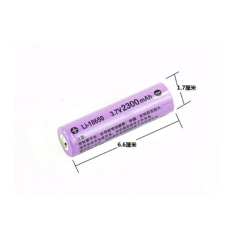 华升黑豹WFL-403手电筒配件电池专用18650充电锂电池3.7V [25]