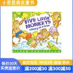 进口英文原版绘本 Five Little Monkeys Sitting in a Tree 五只小猴子坐在树上 平装