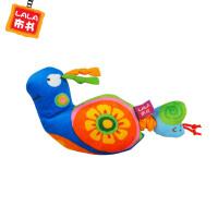 LALABABY/拉拉布书 0-2岁婴儿益智玩具 内置拉动震动器 布玩 蜗牛拉震