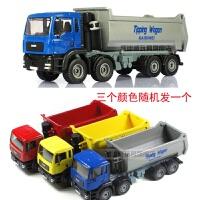 工程车套合金翻斗车 升降卡车 八轮自卸王 儿童玩具08 无厂家包装盒