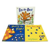 英文原版 Hooray for Fish作者露西・卡森3册大开本经典绘本 【4-10岁】