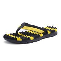 夏季人字拖男士个性外穿拼色沙滩鞋子夏天软底防滑凉拖鞋男潮