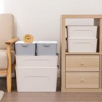 塑料大号收纳箱衣服收纳盒有盖衣柜抽屉整理箱家用床底衣物储物箱