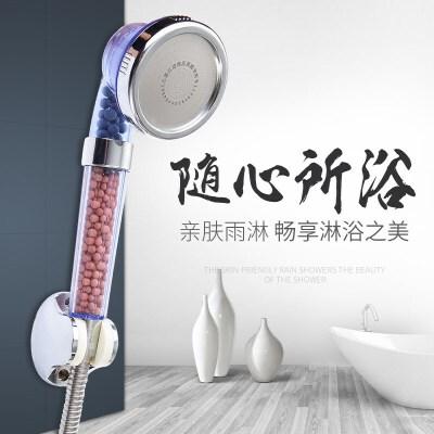 花洒 淋浴喷头手持增压浴室热水器淋雨喷头沐浴洗澡莲蓬头花洒套5