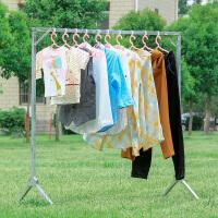 【支持礼品卡】 晾衣架落地折叠室内外晒衣架双杆式阳台挂衣架X型简易晾衣杆3vl