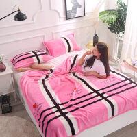 冬季珊瑚绒毯子加厚法兰绒毛毯学生宿舍床单午睡单人双人毛巾被子