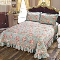 赞妙丝棉衍缝绗缝被床盖三件套床上装饰品夏被床单夹棉床罩