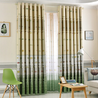 窗帘成品定制卧室客厅双面花隔热全遮光遮阳加厚布料窗纱特价新款
