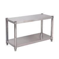 不锈钢厨房置物架两层台面微波炉架储物架烤箱落地收纳架2层