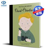 英文原版 小男孩,大梦想:大卫・爱登堡 David Attenborough 绘本 精装 名人传记 Little Peo