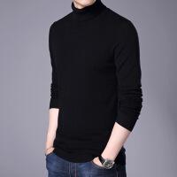 鄂尔多斯市产纯山仿羊绒高领男士羊毛衫秋冬季修身毛衣男针织打底衫