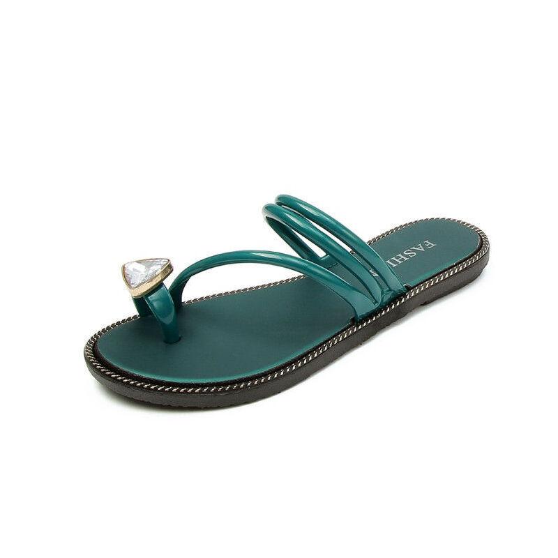 ELEISE美国艾蕾莎新品113-T1621韩版塑料平跟女士凉拖鞋