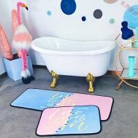 厨房卫浴吸水防滑长条加厚地垫房间进门垫卧室床边地毯可爱飘窗垫